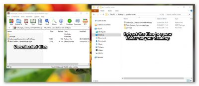 Extract the files to a new folder