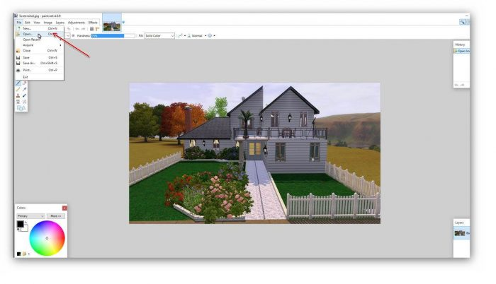 Resizing images with paint.net