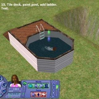 Sims 2 - Above Ground Pool