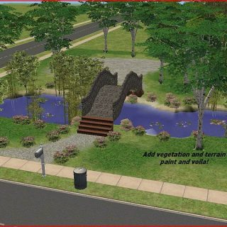 Sims 2 Arched Bridge Tutorial