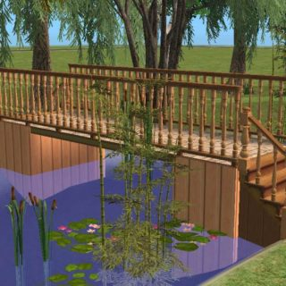 Building a bridge over water in Sims 2