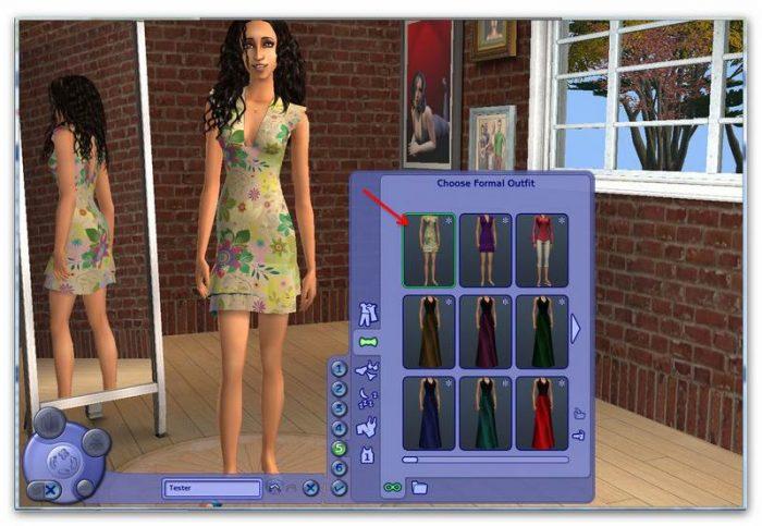 Sims 2 - Recolouring Clothes Using Gimp