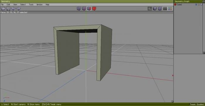 Creating a simple table using a cube - Wings 3D