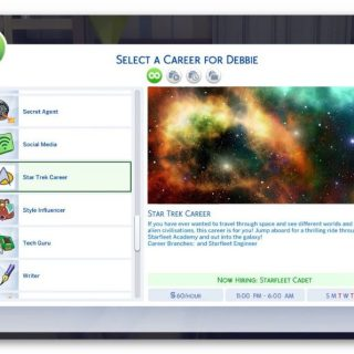 Sims 4 - Star Trek Career