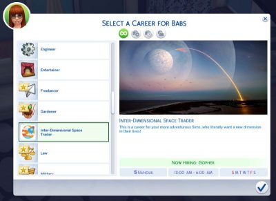 Inter-Dimensional Space Trader Career - Sims 4