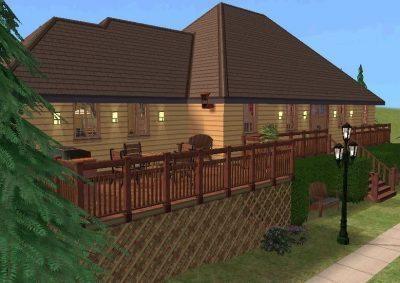 Lakeside Cabin - Base Game, No CC