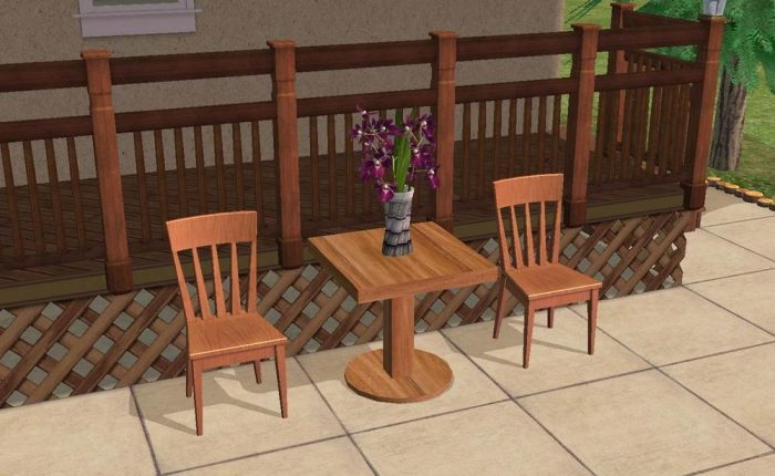 Sturdy Outdoor Dining Table