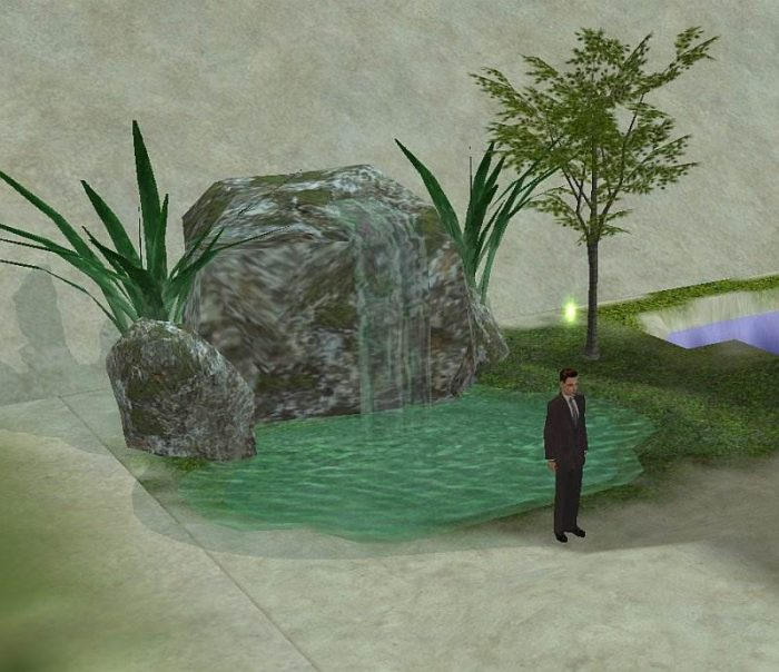 Rock Fountain Batheable