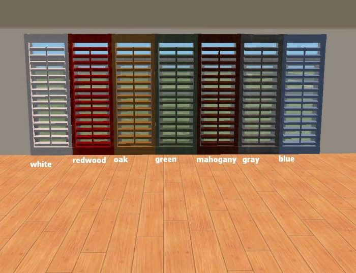Floor to Ceiling Shutter in 7 Colors