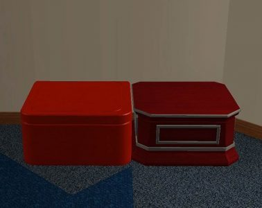Display boxes as coffee tables