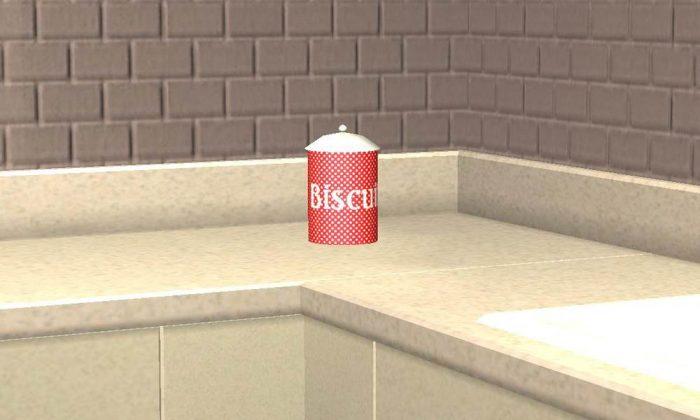 Polkadot Biscuit Tin (Cookie Jar)
