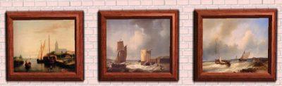 6 Paintings By Abraham Hulk Snr - Ships