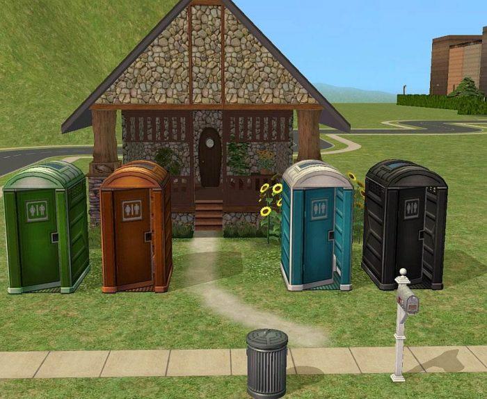 Recolorable Porta Potty