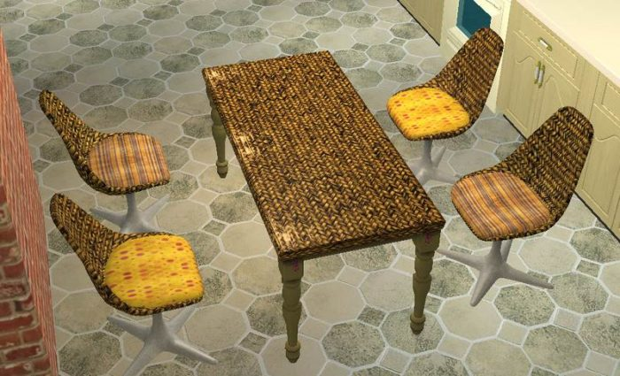 Grunge Wicker Dining Set