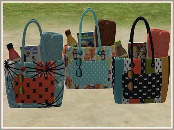 3 Retro Beach Bags by Sugah