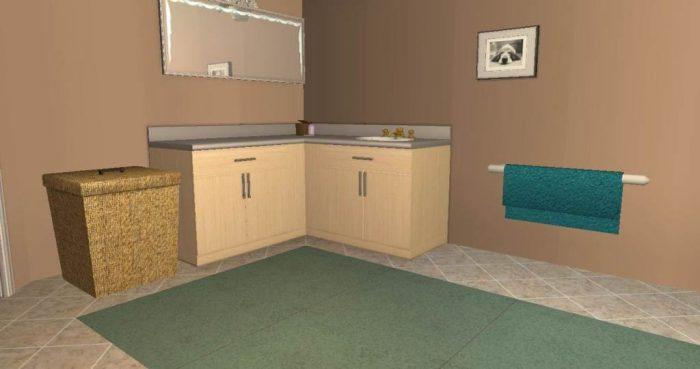 Bathroom Accessories - Laundry Basket & Towel Rail