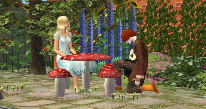 Toadstool Dining Furniture For Fantasy Lots