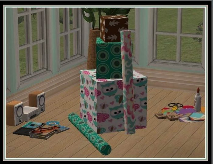 Gift Boxes w/ Wrapping Paper by Sugah