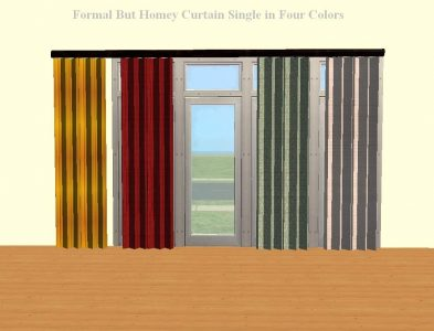 Formal But Homey Curtains