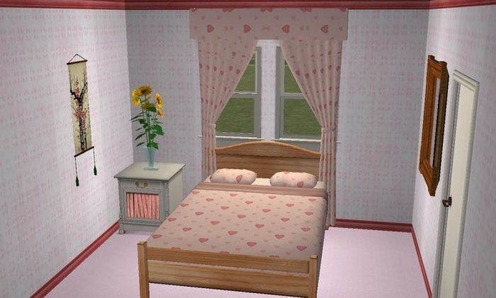 Girl's Bedding & Curtain Set - Maxis Recolours
