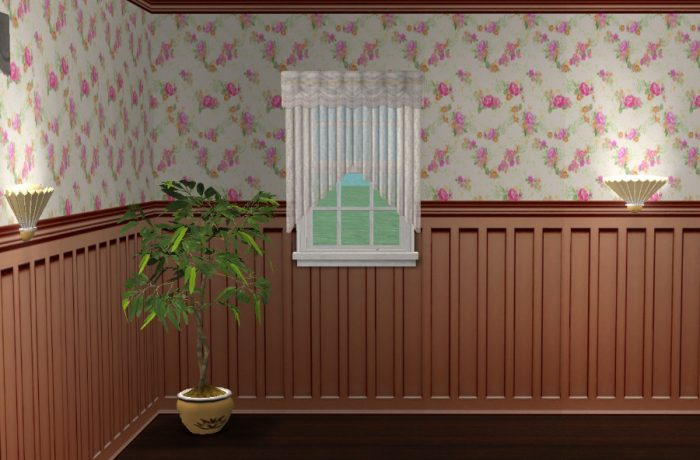 Vintage Rose Wall Panelling