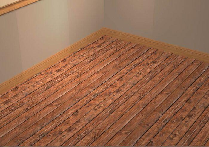 Wall & Floor Set - Wood & Paint