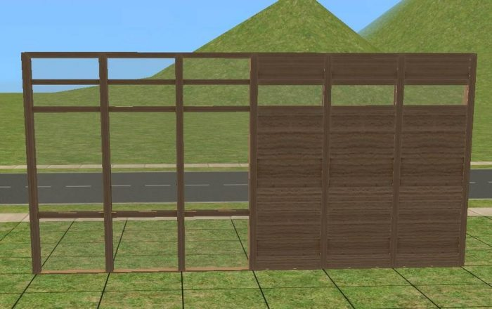 Greenhouse Fence with Wall