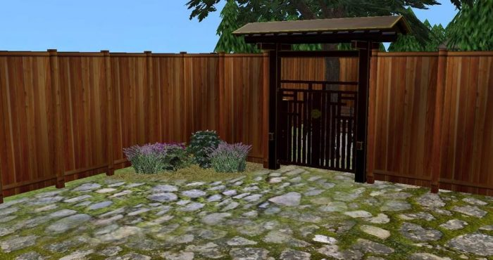 High Wooden Fence