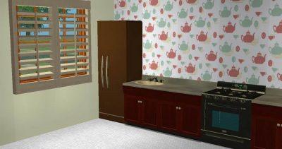 Teapot Wallpaper for Kitchens