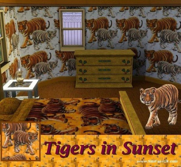 Tigers in Sunset