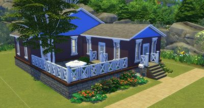Blue Country Cottage