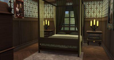 Tiny Gothic Bedroom