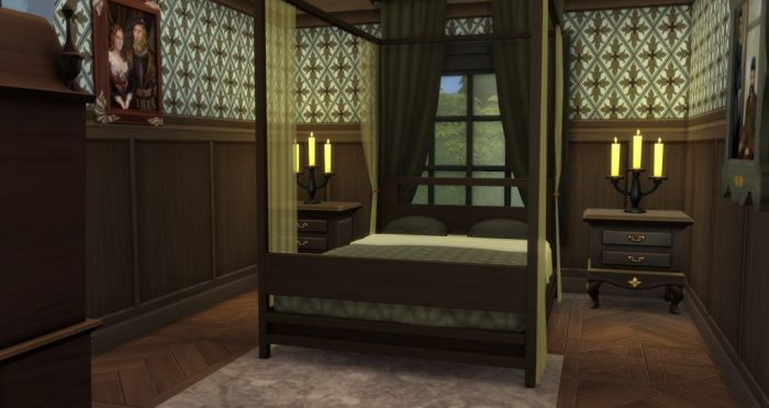 Tiny Gothic Bedroom